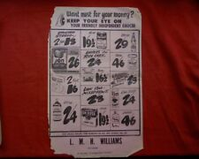 Vintage 1950,s - 60,s Grocery shop window flyers, advertising brochure retro 7
