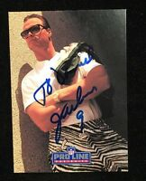 JIM MCMAHON 1991 PRO LINE AUTOGRAPHED SIGNED AUTO FOOTBALL CARD 135 EAGLES