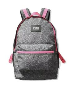 New With Tags Victoria's Secret PINK Campus Backpack Heather Anthracite Marl
