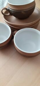 Denby COTSWOLD  Vintage tea Cups X 3 And Saucers  X5