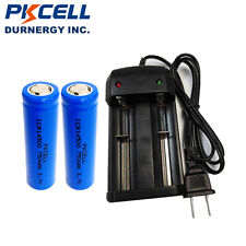 2 ICR 14500 Rechargeable AA Li-ion Batteries 750mAh 3.7V + Smart Battery Charger