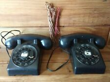 (F91) VINTAGE ANTIQUE BRUMBERGER WIRED TOY PHONES (UNTESTED COND. / UNCLEANED)