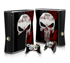 Xbox 360 Slim Console Skin Decal Sticker Punisher + 2 Controller Custom Design