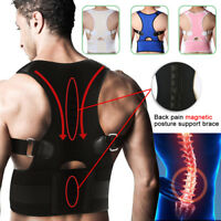 Posture Corrector Adjustable Back Lumbar Support Correction Shoulder Brace Belt