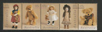 Australia 1997 : Dolls and Bears , Se-tenant strip, 5 x 45c Decimal Stamps, MNH
