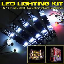 For LEGO 75827 Street Ghostbusters Firehouse Bricks LED Light Lighting Kit ONLY