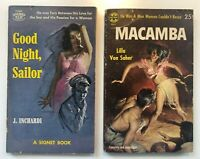 Lot 3  PULP FICTION LURID Pocket Paperback Multiple VINTAGE TRASHY MACAMBA