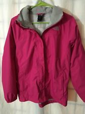 North Face Jacket Girls Size XL (18) Pink And Gray