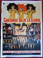 SINGIN IN THE RAIN - VINTAGE R70'S SPANISH LB POSTER - CLASSIC UMBRELLA ARTWORK!