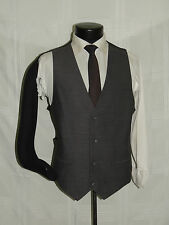 Solid Gray Men's waist coat suit waistcoat Vest size 44 R