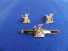 ROYAL NORFOLK REGIMENT CUFF LINK AND TIE GRIP / CLIP SET (G)