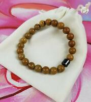 Serpenggiante Marble Brown Tan 8mm Bracelet with Magnetic Hematite & Gift Bag