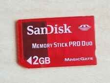 Official Sandisk Red Memory Stick PRO Duo 2GB Magic Gate Genuine Card PSP