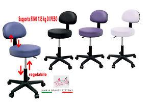 Tabouret Chaise Avec Dossier Pédicure Manucure Pour Maison Salon Studio Beauté