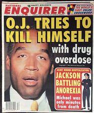 Vintage National Enquirer Dec. 26, 1995. O.J. Simpson.  Michael Jackson