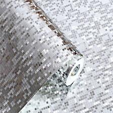 100CM Silver Mosaic Foil Wallpaper KTV Bar Reflective Ceiling Background Wall