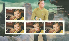 2016 STAR TREK 50TH - CANADA POST PRESTIGE BOOKLET SHEET - 4 STAMPS of CAPT KIRK