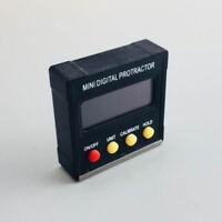 Raporteur d'Angle LCD Haute Précision Digital Protractor Niveau à Bulle