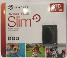 New Seagate 2TB Backup Plus Portable Storage Black Sealed