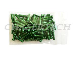 "MTB Road BMX Bike 7075 Alloy Spoke Nipples 2.0mm 14G 5/8"" 72 Pcs Green"