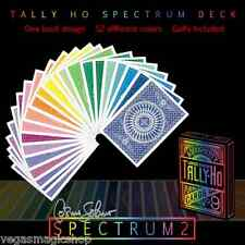 Spectrum Tally-Ho Deck Playing Cards Poker Size USPCC Customized Limited Edition
