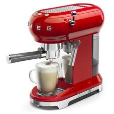 SMEG ECF01RDEU Espresso-Kaffeemaschine mit Siebträger 50`s Retro Style Rot