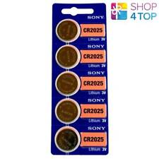 5 SONY CR2025 LITHIUM BATTERIES 3V 160 MAH CELL COIN BUTTON EXP 2029 NEW