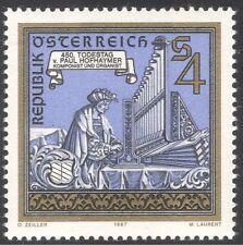 Austria 1987 Paul Hofhaymer/Composers/Music/Organ/Musicians/People 1v (n43060)