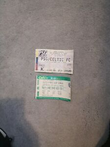 PSG V Celtic 1995 Cup Winners Cup Match Tickets