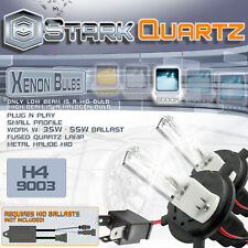 35W / 55W Xenon HID Bulbs High Low Beam Head Light - H4 Replacement Pair 6000K
