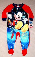Disney MICKEY MOUSE 4T FOOTED PAJAMAS BLANKET SLEEPER Zero Gravity Fun Boys NWT