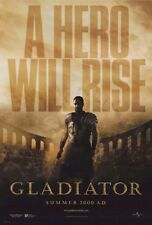 Gladiator Movie Poster 2 Sided Original Advance Intl Rolled 27x40 Russell Crowe