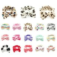 Women Makeup Face Washing Hairband Snood Headband Hair Band Bowknot Coral Fleece