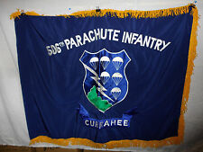 flag307 Early WW 2  506th Parachute Infantry  Regiment  Flag Currahee