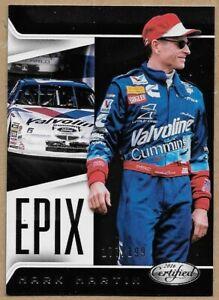 2016 Certified Racing Mark Martin 177/199 NASCAR EPIX