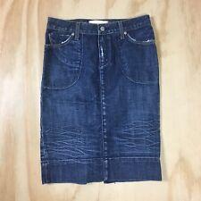 Paper Denim & Cloth Blue Jean Denim Pencil Skirt Size 25 100% Cotton