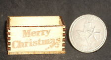 Dollhouse Miniature Merry Christmas Crates 1:12 Decorations Cookies Gifts Food