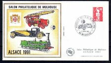 FRANCE BLOC CNEP N° 13 sur FDC SALON PHILATELIQUE 1991 MULHOUSE - POMPIER