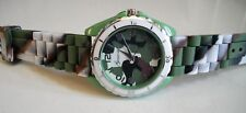Fashion Jelly Silicone camouflage Boys or Girls Quartz Wrist Watch