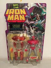 1996 Iron Man Crimson Dynamo Action Figure Marvel TOY BIZ Rare Vintage!