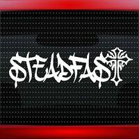 Steadfast Cross Christian Car Decal Truck Window Vinyl Sticker (20 COLORS!)