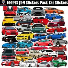100PCS JDM Sticker Pack Car Motorcycle Racing Helmet Motocross Bumper Decals Lot