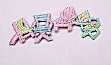 VACATION - BEACH - FLORIDA  - CHAIRS- EMBROIDERED IRON ON APPLIQUE / PATCH