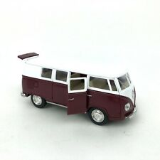 """Collectible Die Cast RED 1962 Volkswagen Classic Bus VW 1:32 Scale Kinsmart 5"""""""