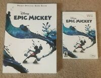 Disney, Epic Mickey, Nintendo Wii, 2010 Video Game & Prima Strategy Guide Tested