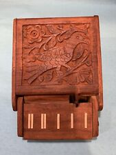 Vintage Wooden Piano Style Mechanical Cigarette Dispenser Case and Holder