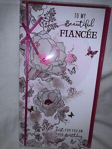 Fiancee birthday card/ Birthday card for Fiancee - 5 styles