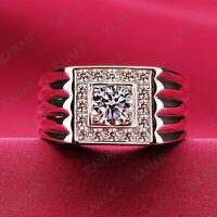 4.20Ct Emerald Pink Sapphire Diamond Men/'s Pinky Wedding Ring 14k Yellow Gold GP
