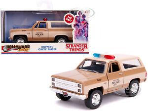 "HOPPER'S CHEVROLET BLAZER HAWKINS POLICE ""STRANGER THINGS"" 1/32 CAR JADA 31114"
