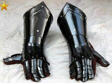 Medieval Knight Gauntlets Functional Armor Gloves Leather Steel SCA LARP GV3